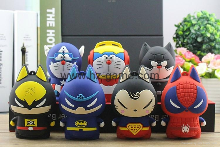 pull cat Cartoon External Mobile Phone Battery Pack Charger Universal Power Bank 5