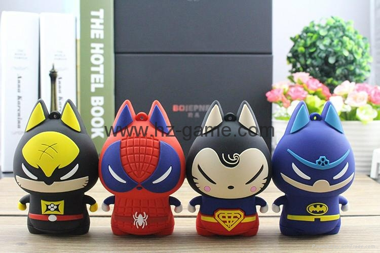 pull cat Cartoon External Mobile Phone Battery Pack Charger Universal Power Bank 7