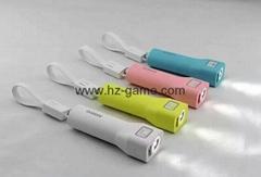 廠家熱銷 新款單節強光手電筒移動電源可拆卸數據線的充電寶可oEM