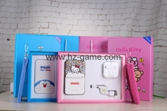 Gift box packing polymer battery doraemo hellokitty  power bank with headset