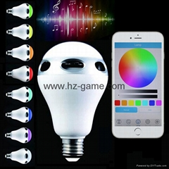 Light Bulb Lamp Colorful Wireless LED Bluetooth Speaker Music Lighting With APP