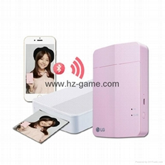 Mini LG Printer Pocket Color Photo Printing Wireless Bluetooth for Android, iOS