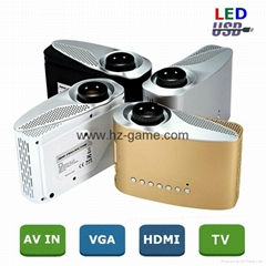 new LED Mini Projector Support 1080P Full HD video HDMI Home Theater Projector