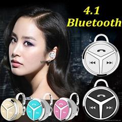 新款語音迷你4.1 Q5 耳挂式立體聲微型雙耳通用無線藍牙耳機 上下曲