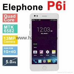 Original Elephone P6i MTK6582 Quad Core Android 4.4 5.0'' IPS smart phone