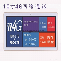 new 10inch Tablet PC quad core 4G network / call phone IPS Screen Bluetooth GPS