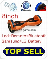 8inch Led samsung battery electric scooter bluetooth scooter speaker hoverboard