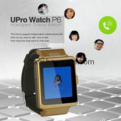 new SIM SD Smart Phone Watch P6 mini touch-screen phone Bluetooth watch