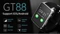 批发智能手表 gt88首款支持苹果系统和安卓系统心率测试防水插卡 1