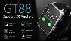 new Waterproof GT88 Bluetooth Smart Watch SIM Wearable Heart rate