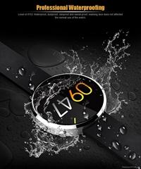 防水DM360智能手表 支持心率检测 兼容IOS系统 圆屏通话蓝牙手表