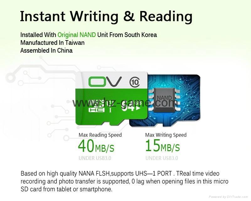OV 8G内存卡16G TF卡32G 64G 128G行车记录仪高速存储卡 C10 11