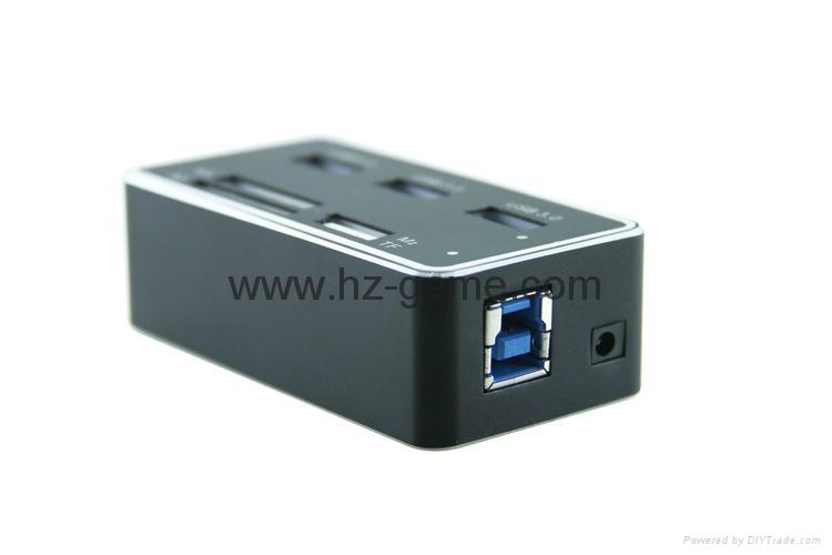 新款多合一USB3.0带线读卡器CF MD SD TF卡厂价批发正品 7