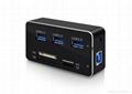 新款多合一USB3.0带线读卡器CF MD SD TF卡厂价批发正品 8