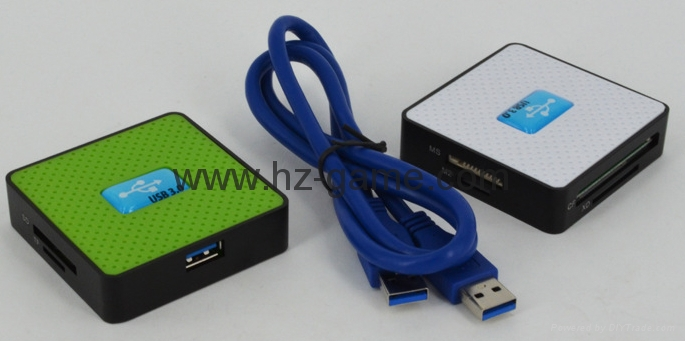 新款多合一USB3.0帶線讀卡器CF MD SD TF卡廠價批發正品 10