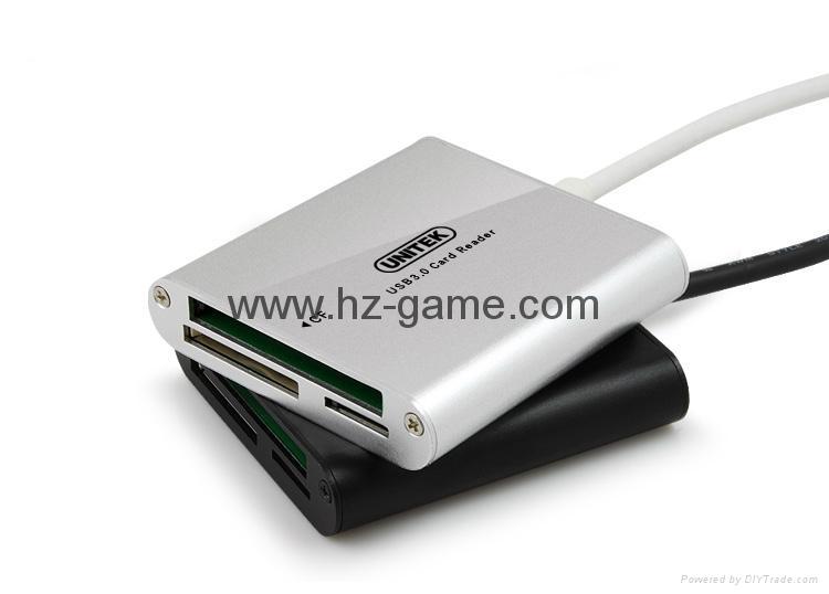 新款多合一USB3.0带线读卡器CF MD SD TF卡厂价批发正品 3