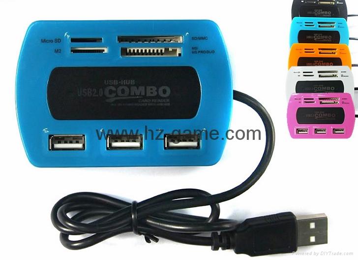 新款多合一USB3.0帶線讀卡器CF MD SD TF卡廠價批發正品 13