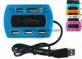 新款多合一USB3.0带线读卡器CF MD SD TF卡厂价批发正品 13
