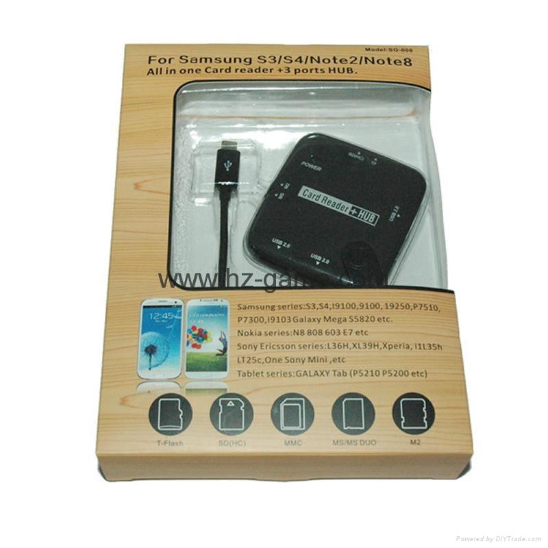 新款多合一USB3.0带线读卡器CF MD SD TF卡厂价批发正品 18