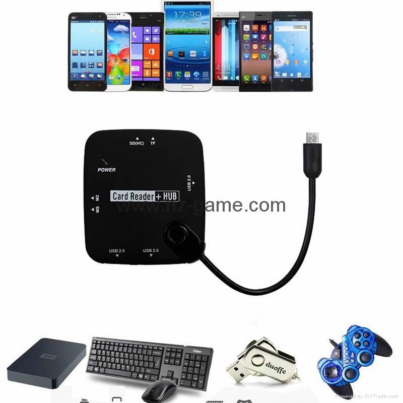 新款多合一USB3.0帶線讀卡器CF MD SD TF卡廠價批發正品 1