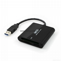 新款多合一USB3.0带线读卡器CF MD SD TF卡厂价批发正品 4