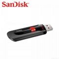 批发闪迪(SanDisk)酷刃 (CZ50) 8GB U盘 黑红 16
