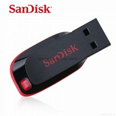 批发闪迪(SanDisk)酷刃 (CZ50) 8GB U盘 黑红