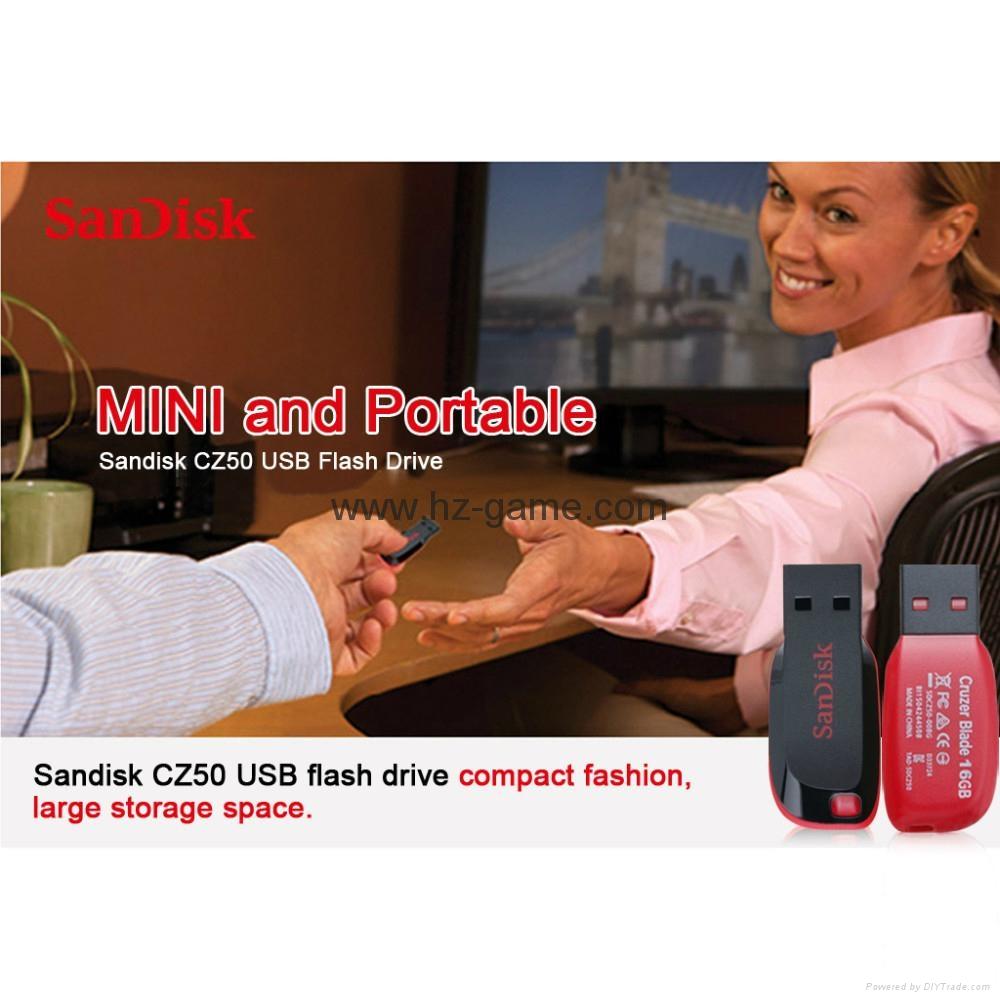 批发闪迪(SanDisk)酷刃 (CZ50) 8GB U盘 黑红 20