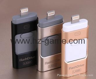 手機電腦雙用U盤8G/16g/32G/64G otg蘋果U盤32g 定製LOGO優盤 雙插頭定製u盤 1
