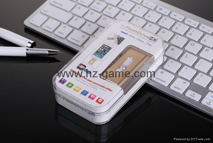 手机电脑双用U盘8G/16g/32G/64G otg苹果U盘32g 定制LOGO优盘 双插头定制u盘 8