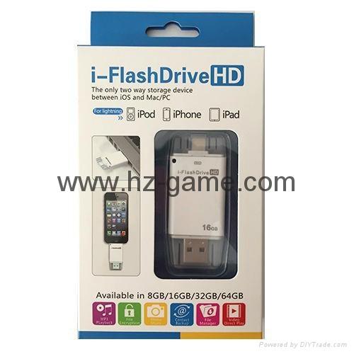 手機電腦雙用U盤8G/16g/32G/64G otg蘋果U盤32g 定製LOGO優盤 雙插頭定製u盤 9