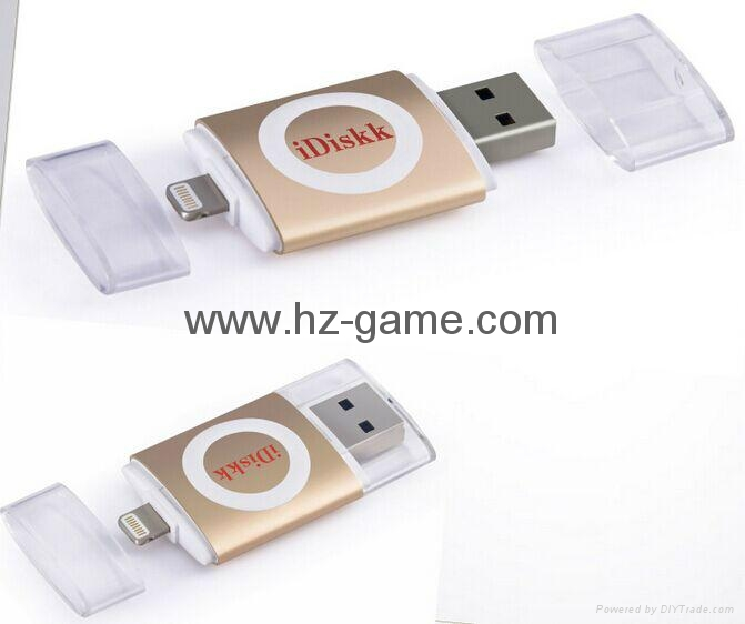 手機電腦雙用U盤8G/16g/32G/64G otg蘋果U盤32g 定製LOGO優盤 雙插頭定製u盤 11