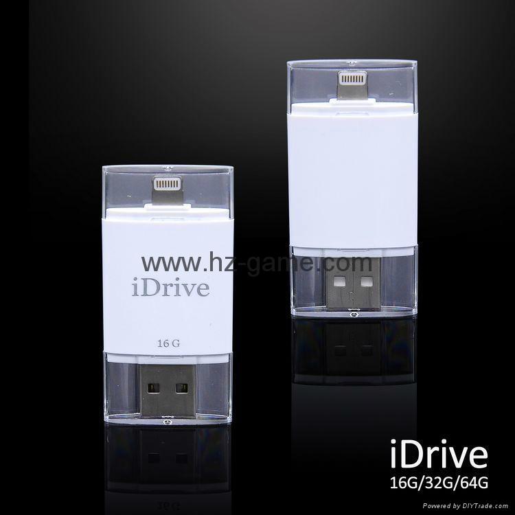 手機電腦雙用U盤8G/16g/32G/64G otg蘋果U盤32g 定製LOGO優盤 雙插頭定製u盤 12