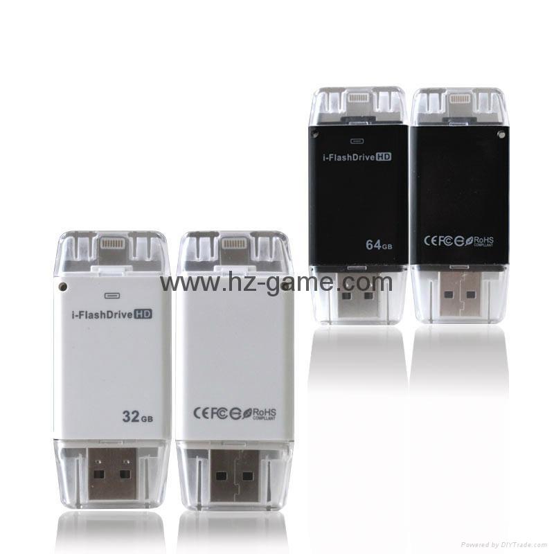 手机电脑双用U盘8G/16g/32G/64G otg苹果U盘32g 定制LOGO优盘 双插头定制u盘 14