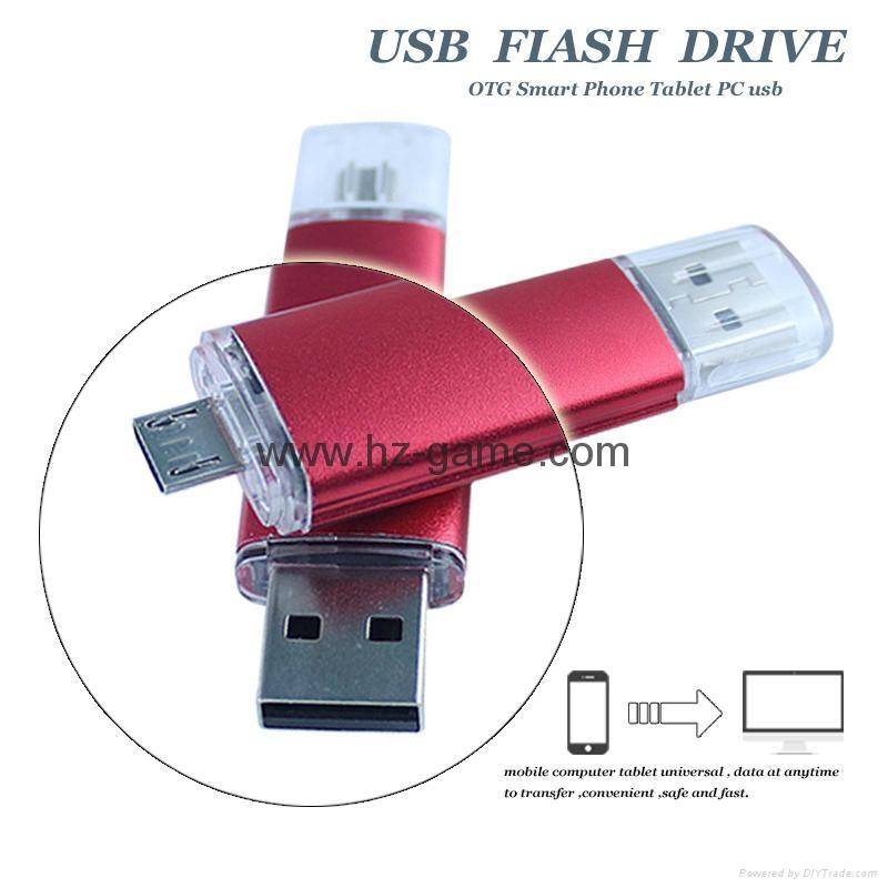 手机电脑双用U盘8G/16g/32G/64G otg苹果U盘32g 定制LOGO优盘 双插头定制u盘 16