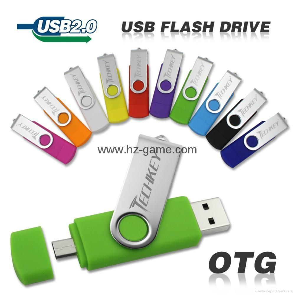 手機電腦雙用U盤8G/16g/32G/64G otg蘋果U盤32g 定製LOGO優盤 雙插頭定製u盤 20
