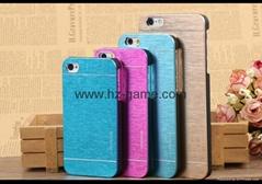 批發motomo手機殼iphoneX 蘋果7手機套保護套iPhone5手機殼 超薄金屬拉絲