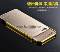 NEW Ultra-thin Luxury Mirror case For iphone 6 Acrylic r Gold Glossy Case