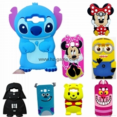 3D Cartoon Stitch Minnie Mouse Cat Despicable Me Silicone Case