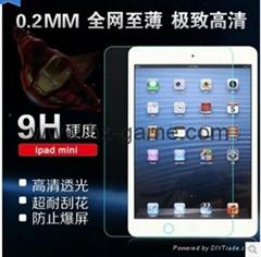 工廠新款蘋果ipad5/3/2/1/ipad mini4/ipd pro/ipad6 air2 鋼化玻璃膜平板保護膜貼膜