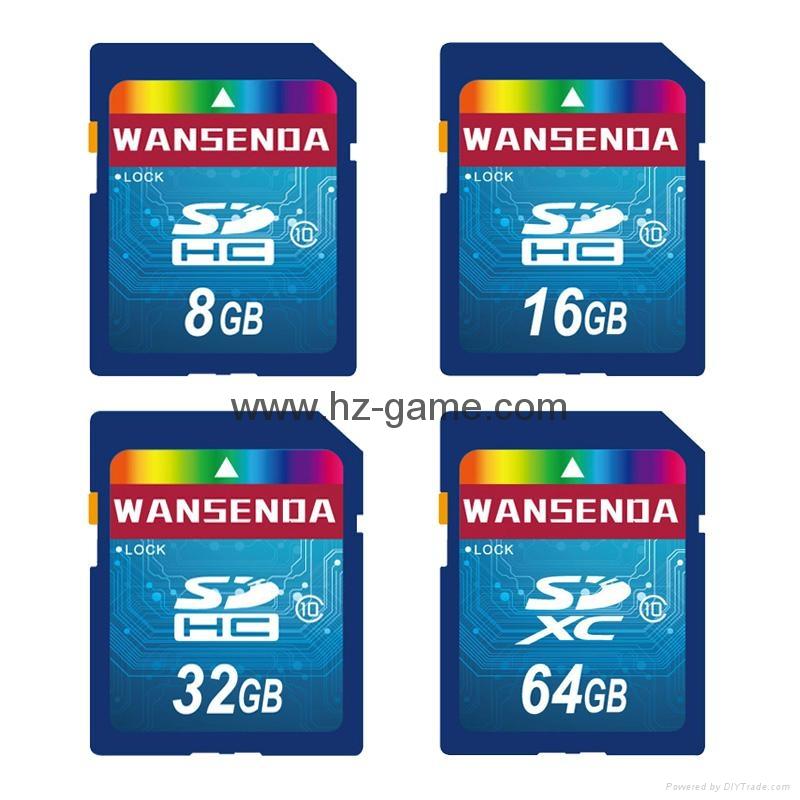 ps2雙色記憶卡/xbox360/wii /NGC遊戲內存卡 儲存卡 C10高速  手機TF卡批發 10