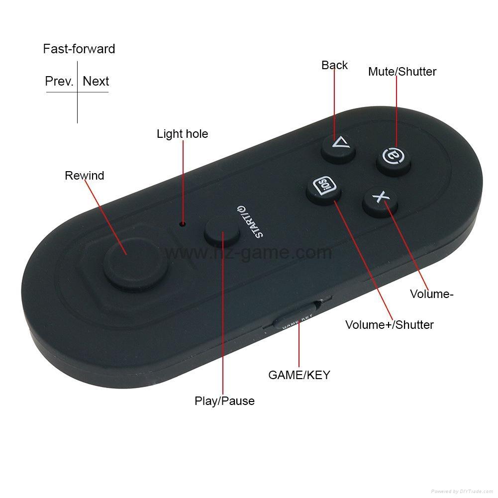 手机无线蓝牙游戏手柄 蓝牙自拍器 鼠标 遥控安卓苹果IOS迷你手柄 17