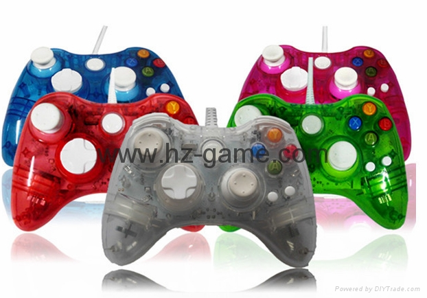 XBOX360 Wireless Controller, XBOX360 WIRED led light Joystick,XBOX WIRED GAMEPAD 2