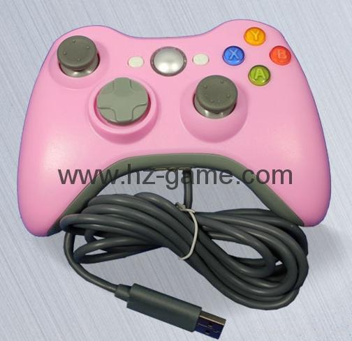 XBOX360有线游戏手柄 360发光透明外壳LED灯游戏手柄,电脑手柄 8