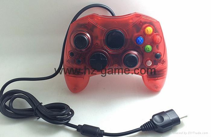 XBOX360有線遊戲手柄 360發光透明外殼LED燈遊戲手柄,電腦手柄 19