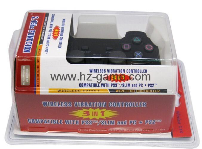 PS2有線震動手柄pc usb電腦 雙馬達震動 PS2單震動遊戲手柄 8