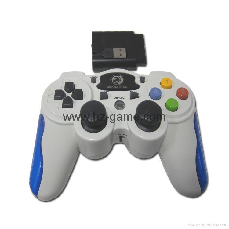 PS2有線震動手柄pc usb電腦 雙馬達震動 PS2單震動遊戲手柄 9