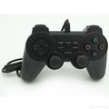 PS2有線震動手柄pc usb電腦 雙馬達震動 PS2單震動遊戲手柄 6