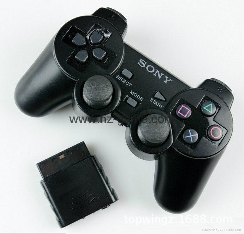 PS2有線震動手柄pc usb電腦 雙馬達震動 PS2單震動遊戲手柄 1