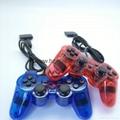 PS2有線震動手柄pc usb電腦 雙馬達震動 PS2單震動遊戲手柄 4